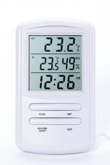 TM898 комнатно-уличный термометр с влажностью и часами