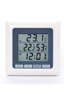 TM1011 комнатно-уличный термометр с влажностью и часами