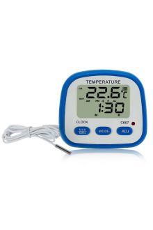 C607 комнатно-уличный термометр с часами