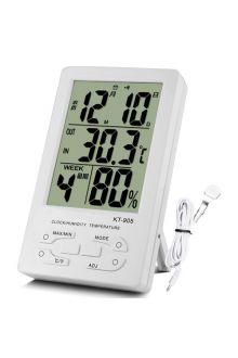 KT-905 комнатно-уличный термометр с влажностью