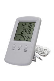 TM1010 комнатно-уличный термометр с часами