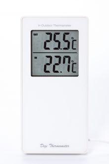 TM1055-Белый комнатно-уличный термометр