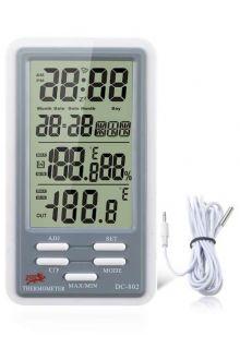 DC802 термометр с влажностью и часами