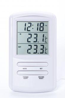 TM898A комнатно-уличный термометр с часами
