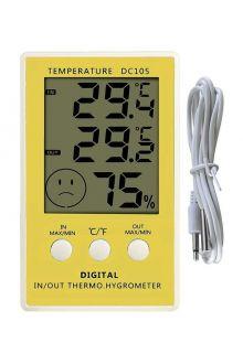 DC105 комнатно-уличный термометр с влажностью